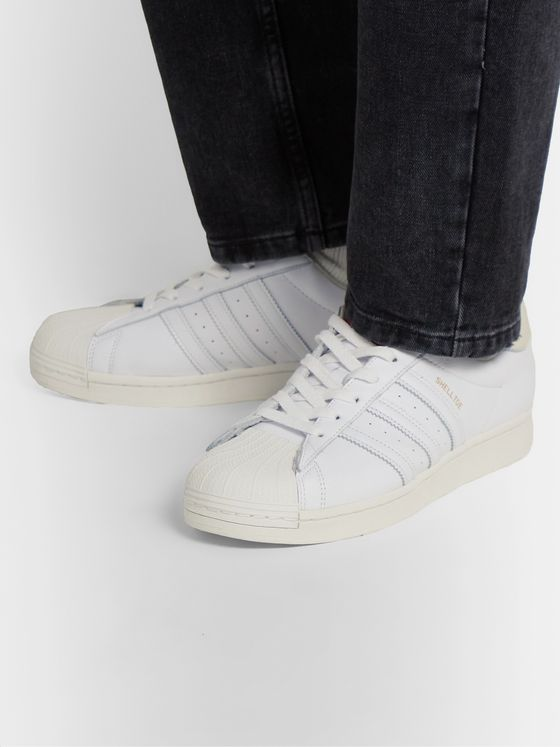 adidas Consortium + 424 Shell Toe Leather Sneakers