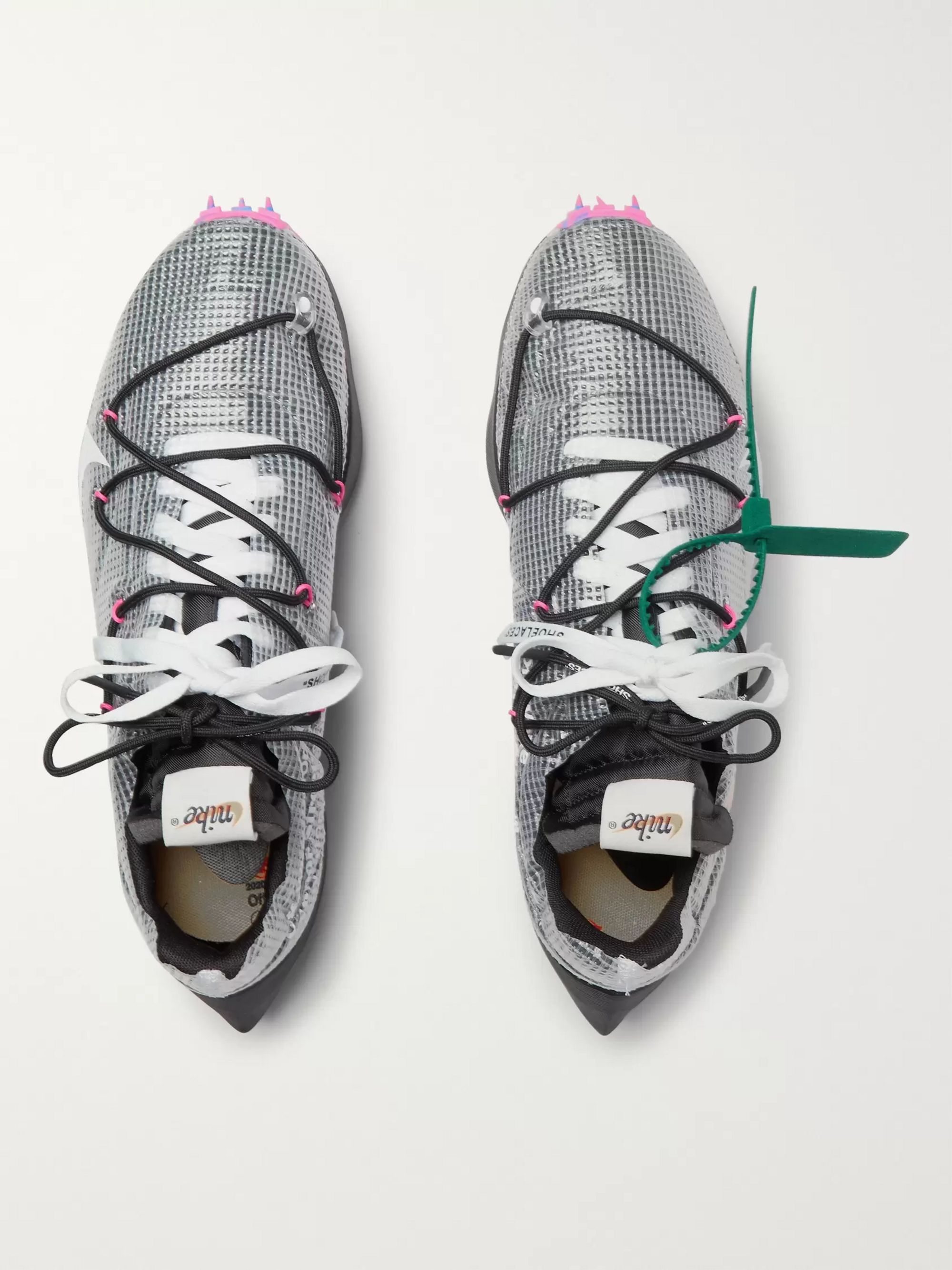 Nike + Off-White Vapor Street Ripstop, Suede, Mesh and Rubber Sneakers
