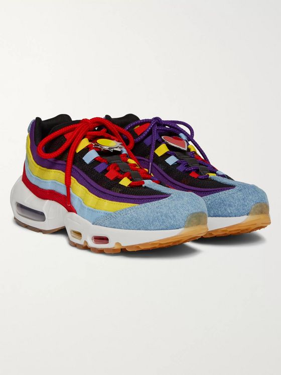 Nike Air Max 95 SP Denim, Canvas and Mesh Sneakers