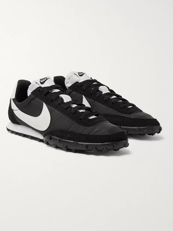 Nike Waffle Racer Nylon, Suede and Leather Sneakers