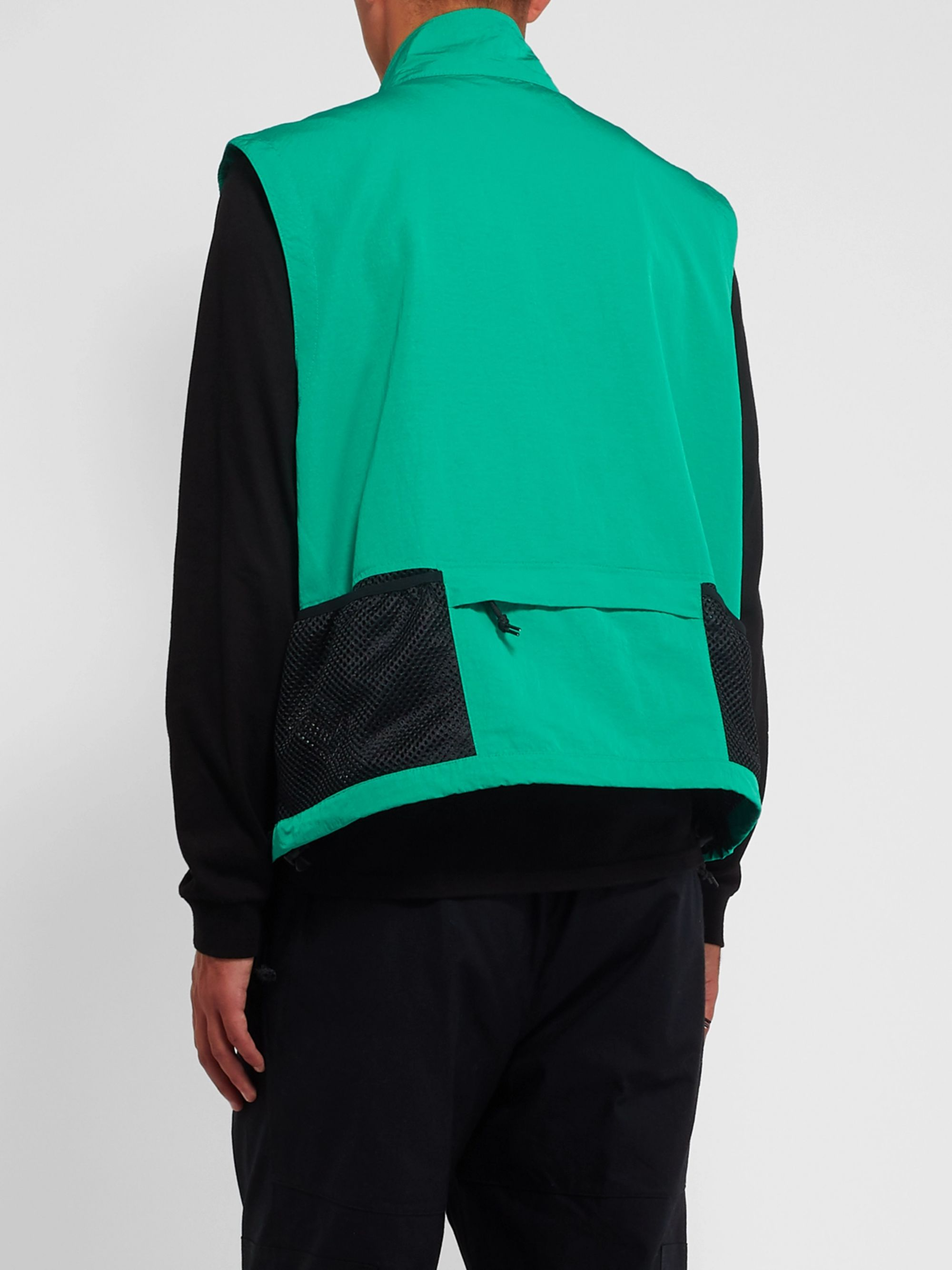 Nike ACG NRG Logo-Embroidered Shell and Mesh Gilet