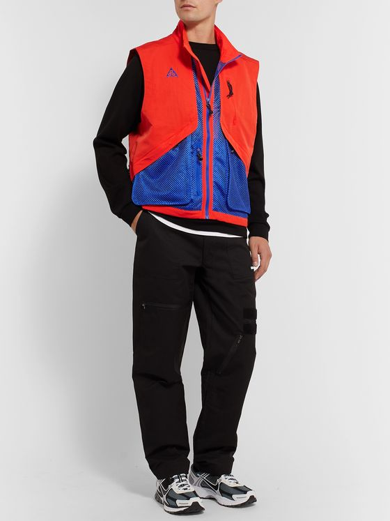 Nike ACG Logo-Embroidered Shell and Mesh Gilet