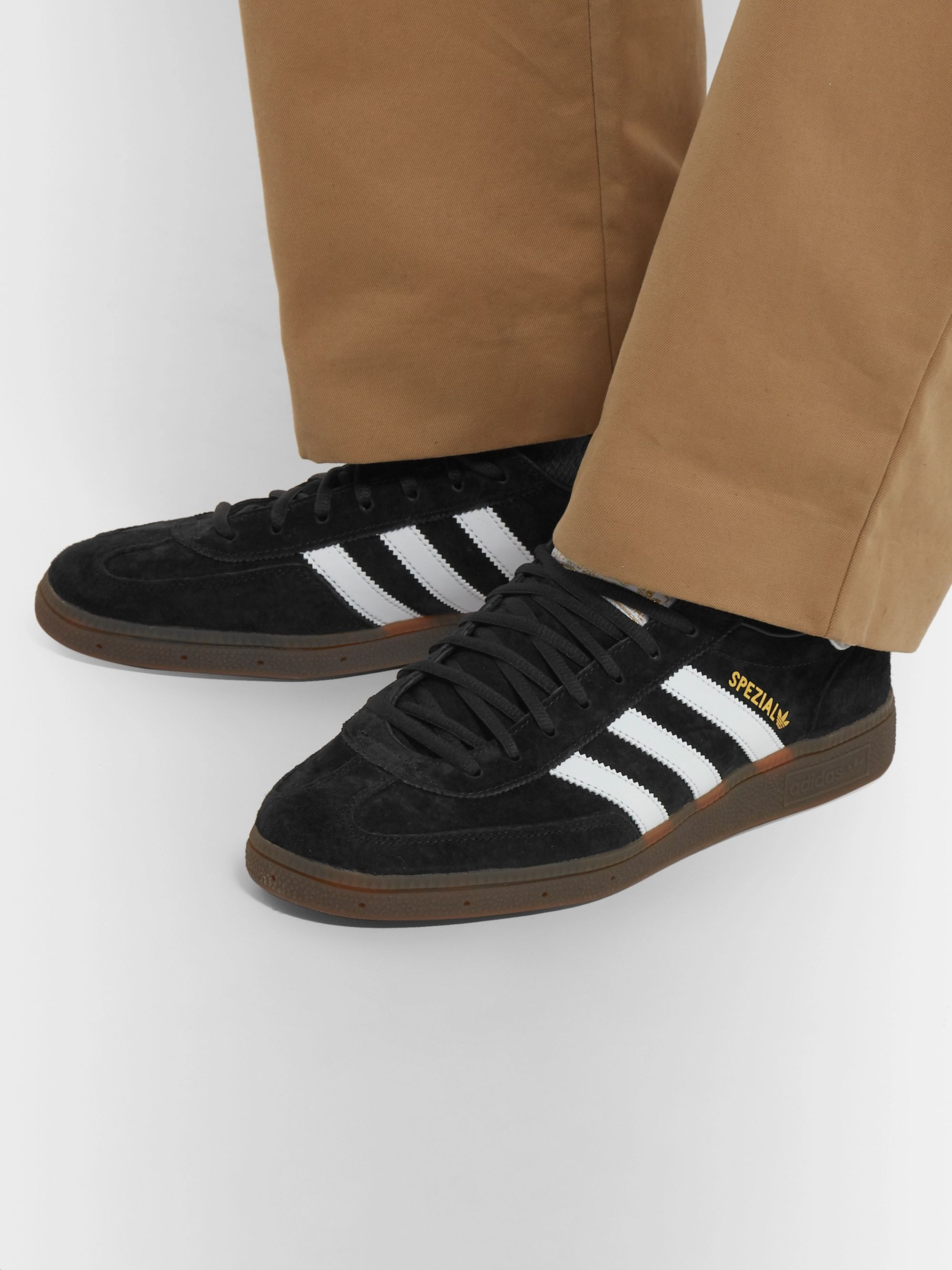 Handball SPEZIAL Leather-Trimmed Suede Sneakers
