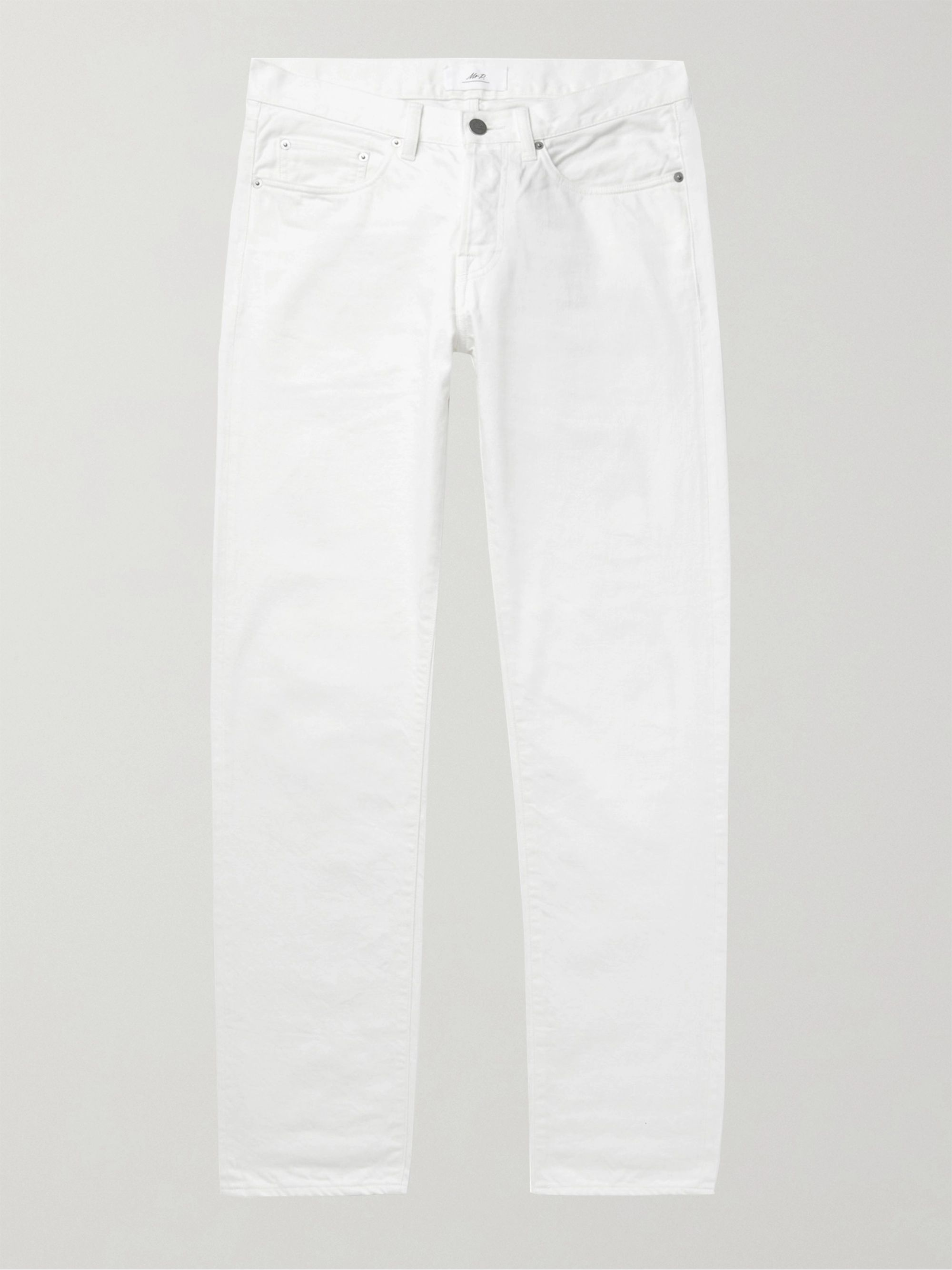 Mr. P White Slim-Fit Denim Jeans,White