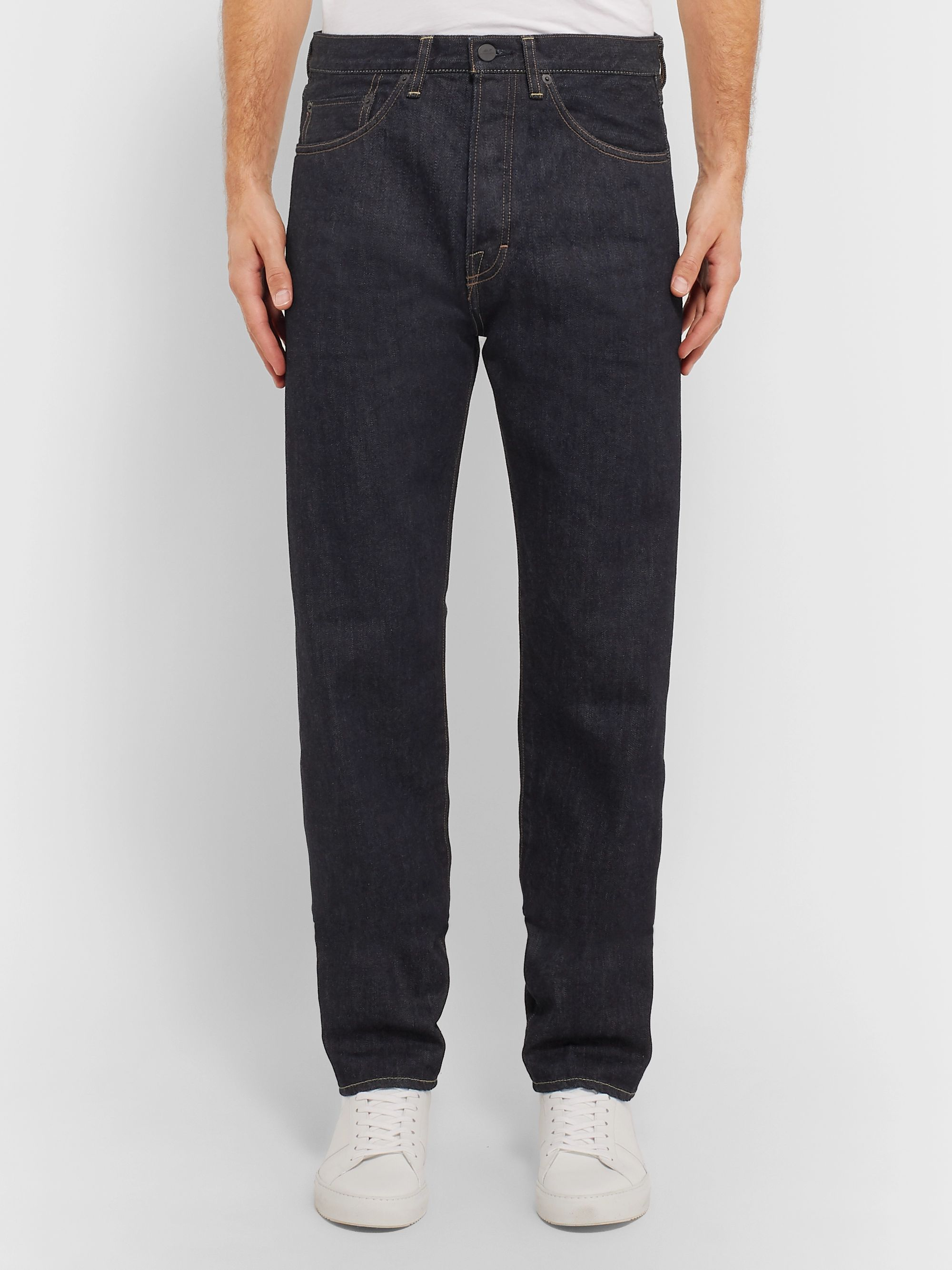 Mr P. Straight-Leg Selvedge Denim Jeans