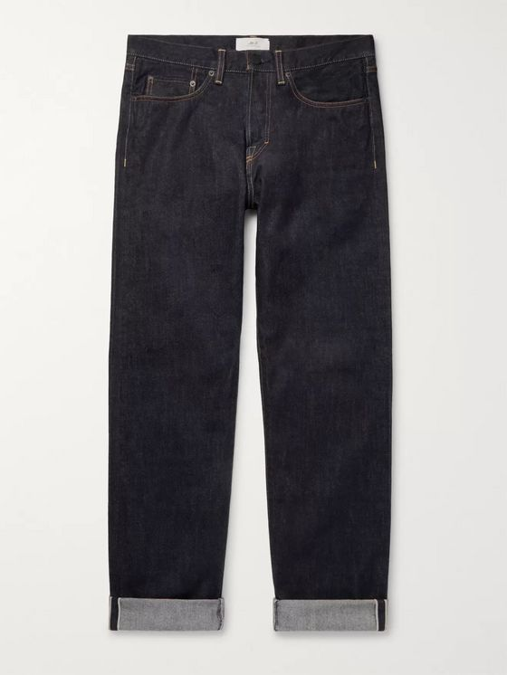 Mr P. Straight-Leg Selvedge Jeans