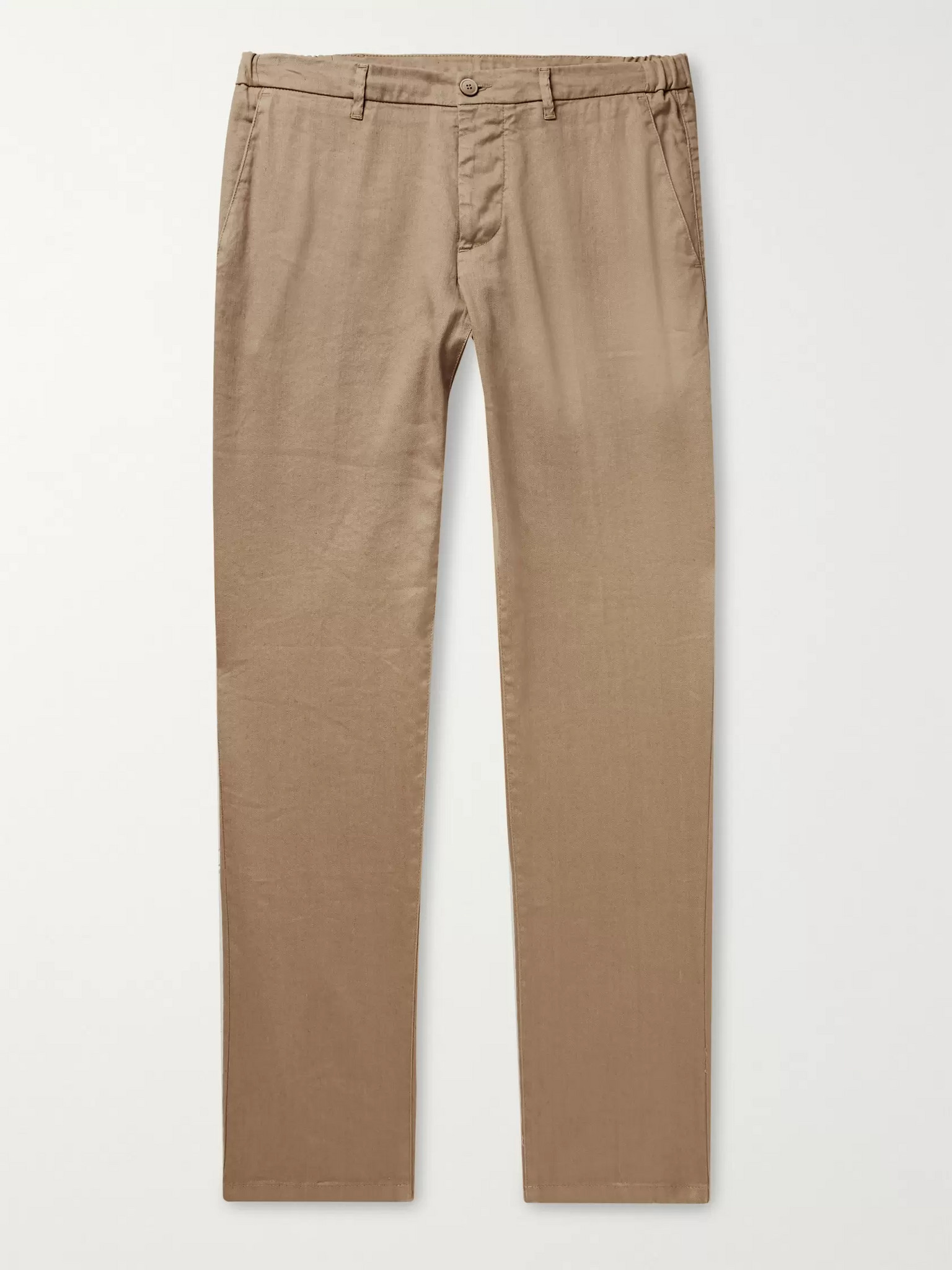Altea Dumbo Slim-Fit Linen-Blend Twill Trousers