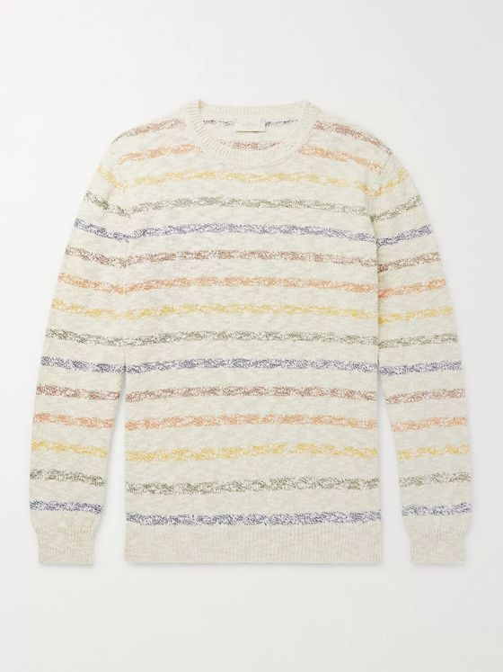 Altea Striped Mélange Cotton-Blend Sweater