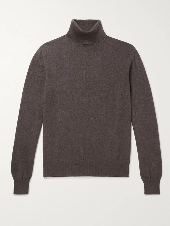 Anderson & Sheppard + Camoshita Cashmere Rollneck Sweater