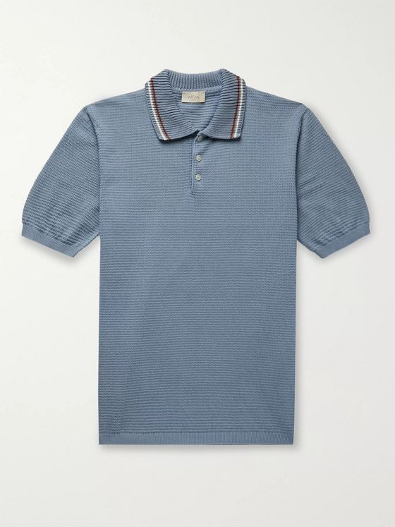 Altea Contrast-Trimmed Cotton Polo Shirt