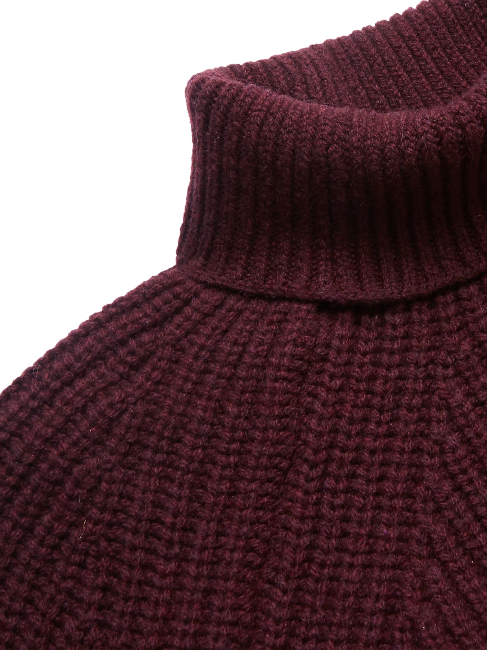 Anderson & Sheppard + Camoshita Ribbed Merino Wool Rollneck Sweater