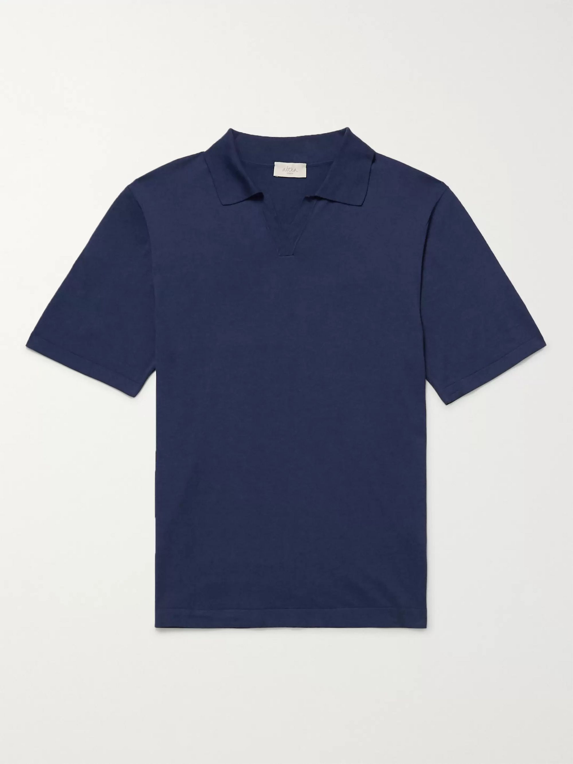 Altea Slim-Fit Silk and Cotton-Blend Polo Shirt