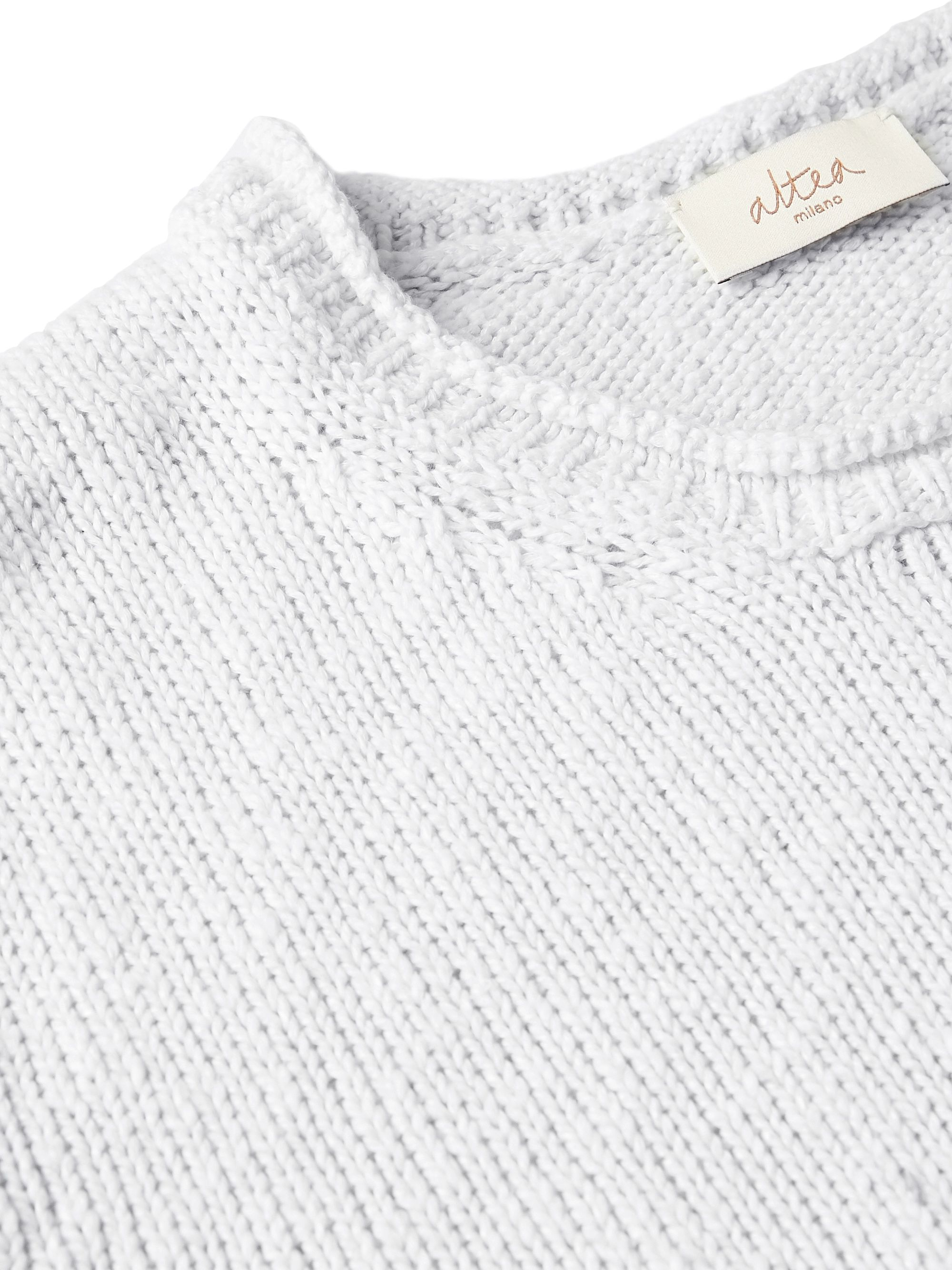 Altea Dégradé Cotton and Linen-Blend Sweater