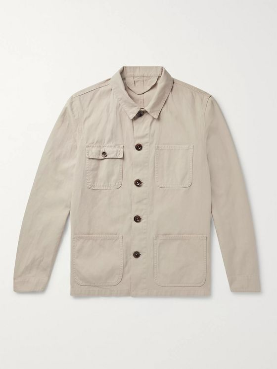 Altea Sheffield Cotton and Linen-Blend Canvas Chore Jacket