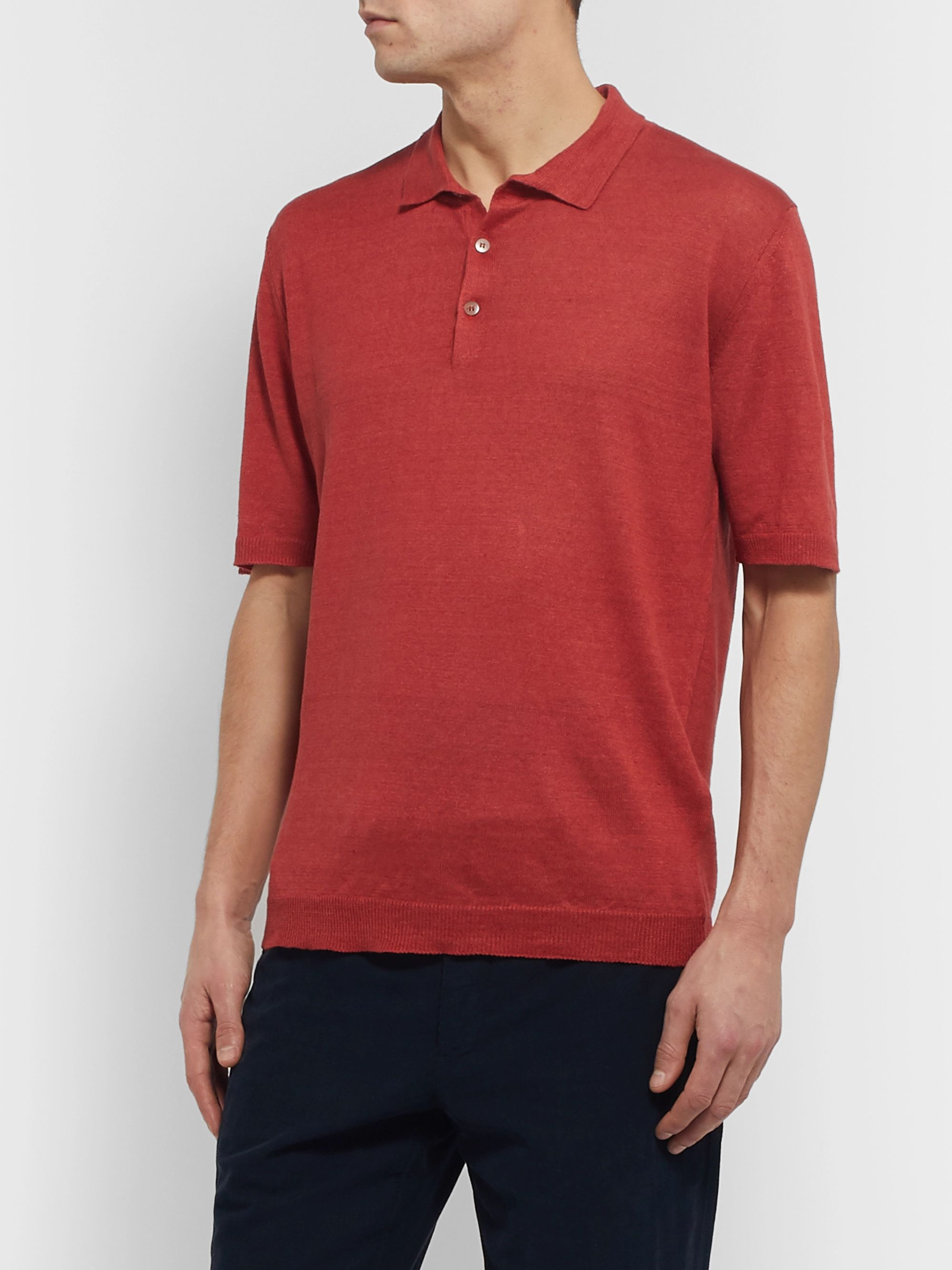 Altea Linen Polo Shirt