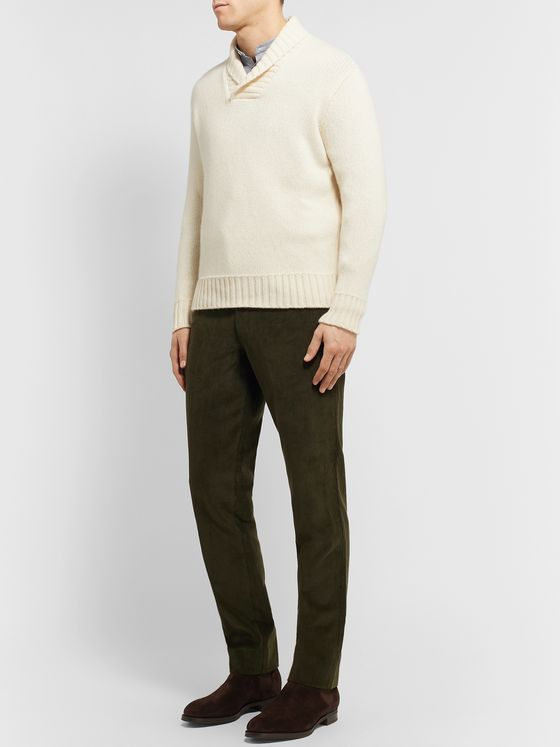 Anderson & Sheppard Shawl-Collar Cashmere Sweater