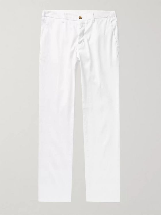 Altea Dumbo Slim-Fit Linen-Blend Twill Trousers