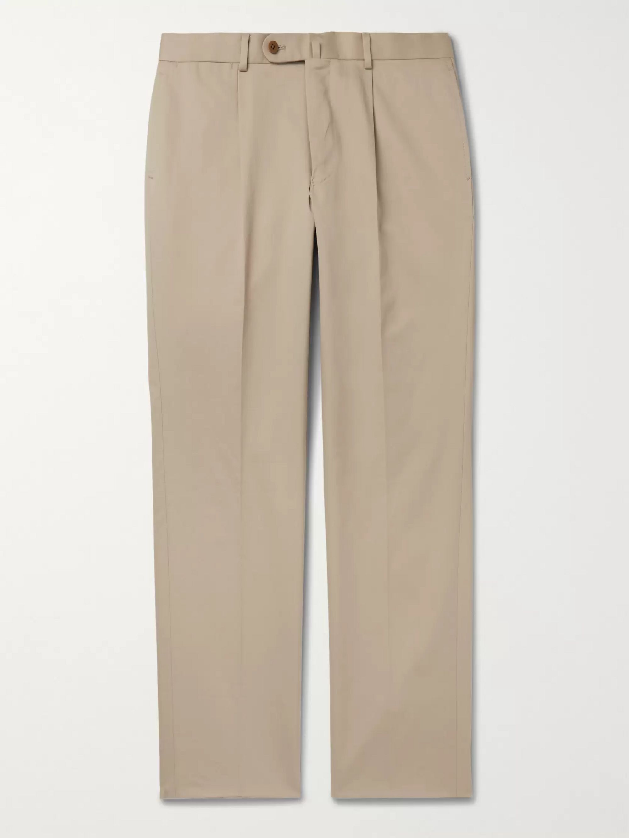 Beams F Slim-Fit Cotton-Twill Trousers