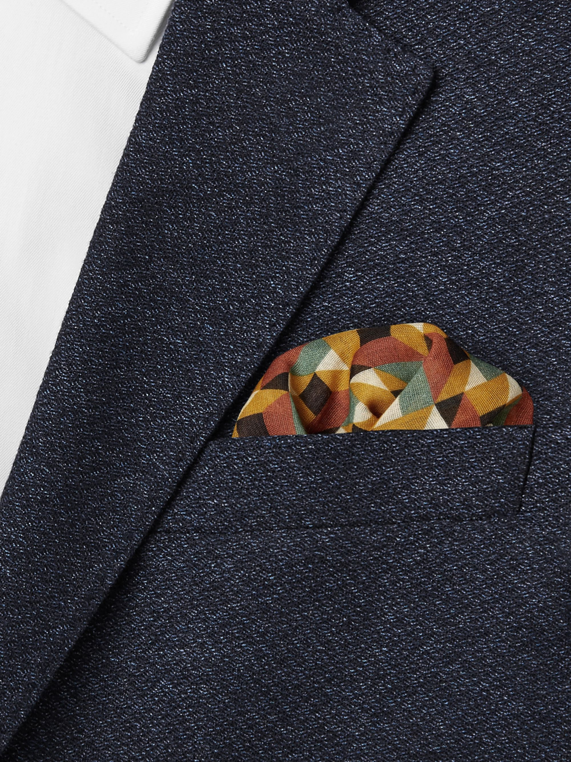 Drake's Printed Cotton, Modal and Cashmere-Blend Pocket Square
