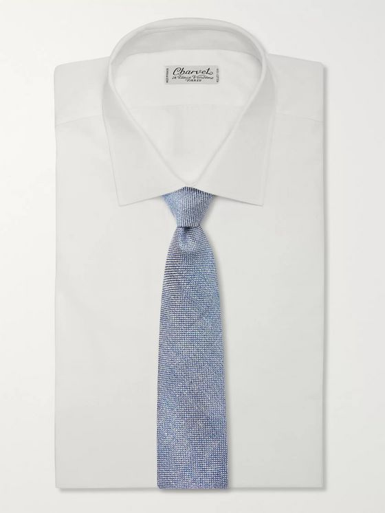 Drake's 8.5cm Linen and Silk-Blend Tie