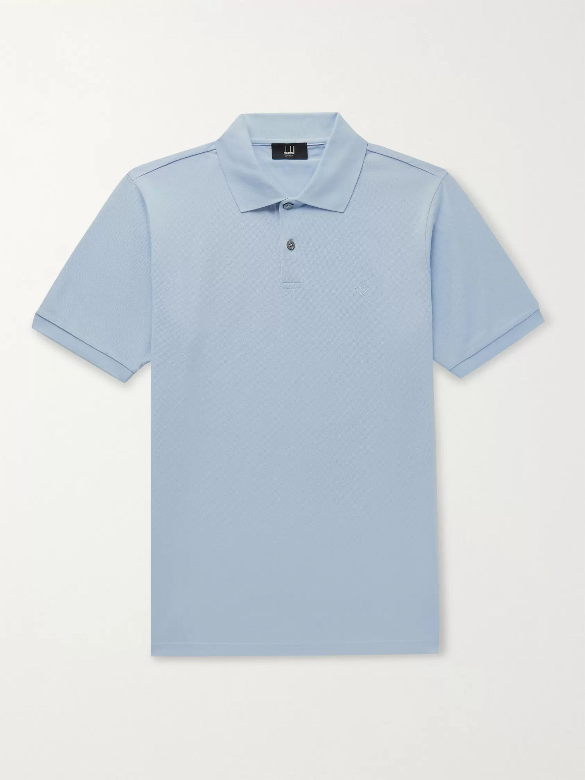 Dunhill Slim-Fit Logo-Embroidered Cotton-Piqué Polo Shirt