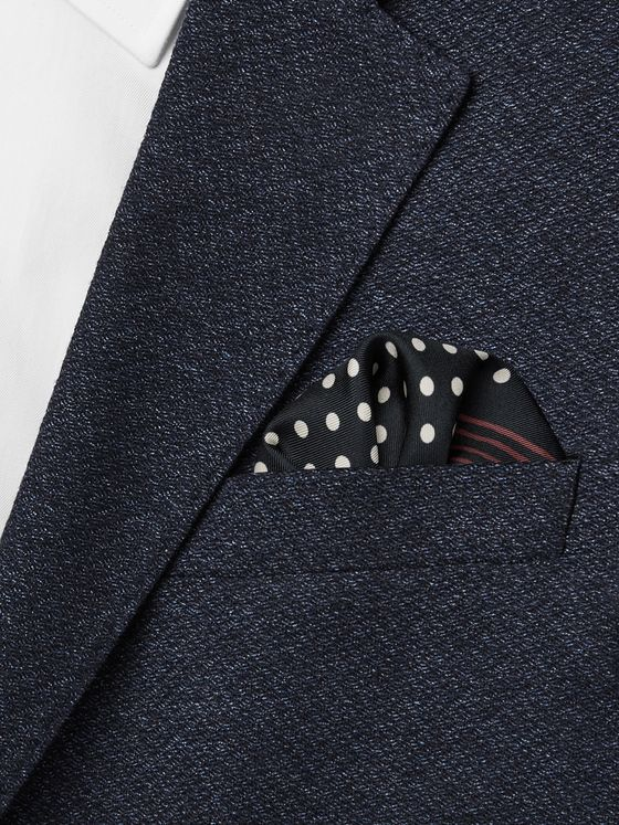 Drake's Printed Silk-Twill Pocket Square