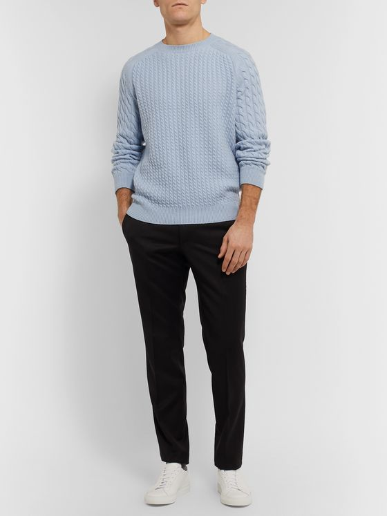 Dunhill Cable-Knit Cashmere Sweater