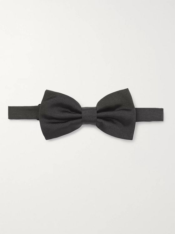 Dunhill Pre-Tied Mulberry Silk-Twill Bow Tie