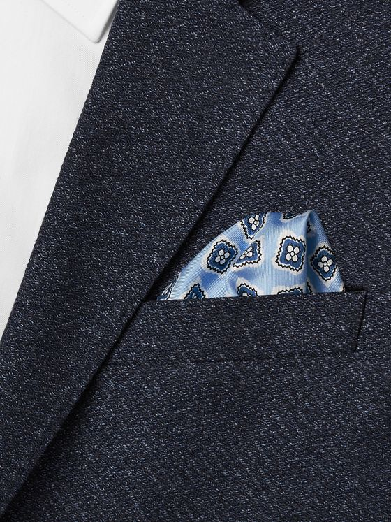 E.MARINELLA 1934 Archive Printed Silk-Twill Pocket Square