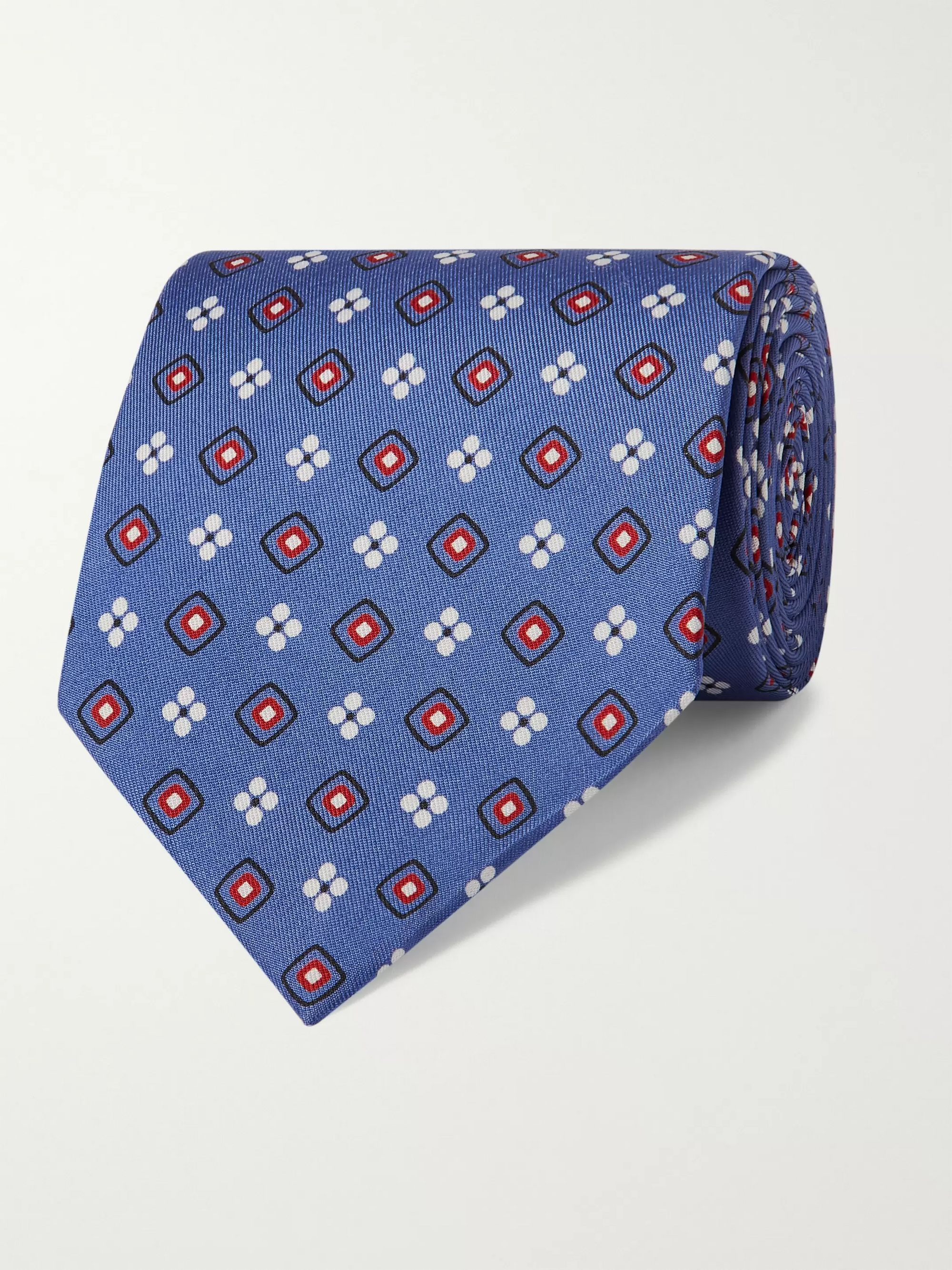 E.MARINELLA 8.5cm 1953 Archive Printed Silk-Twill Tie