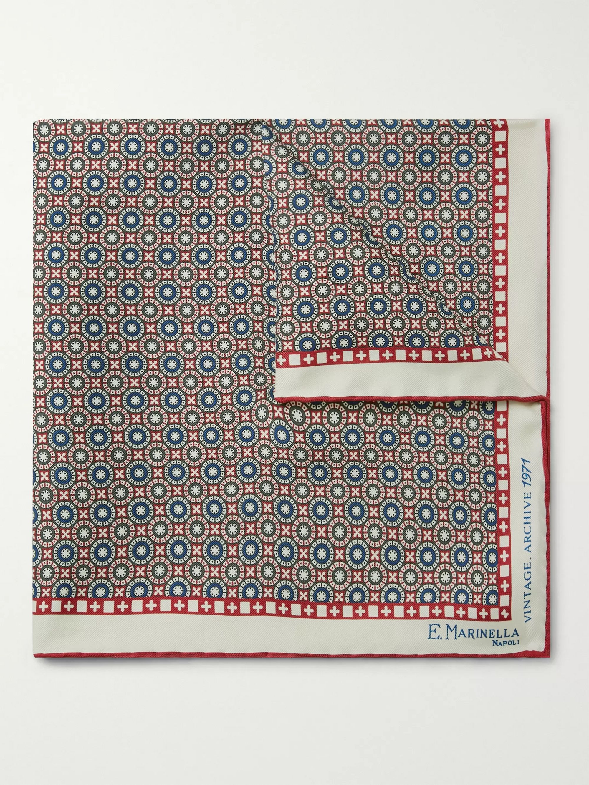E.MARINELLA 1971 Archive Printed Silk-Twill Pocket Square