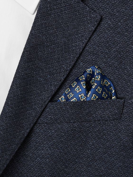 E.MARINELLA 1930 Archive Printed Silk-Twill Pocket Square
