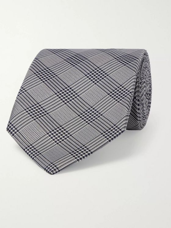 Etro 8cm Prince of Wales Checked Silk-Jacquard Tie