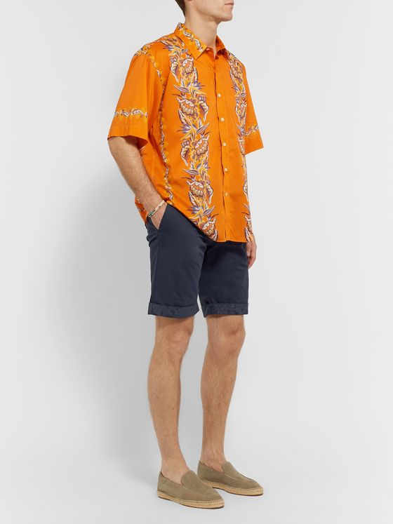 Etro Stretch-Cotton Twill Shorts