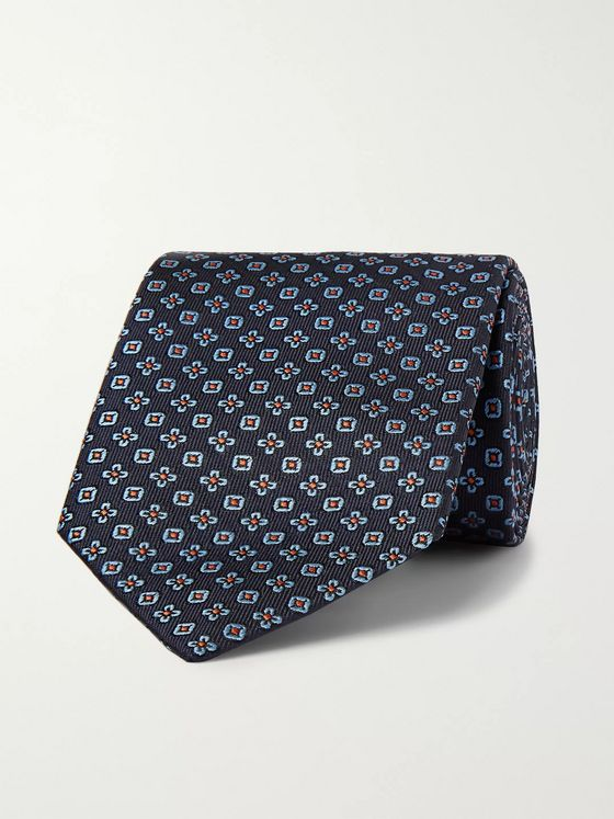 Etro 8cm Embroidered Silk-Twill Tie