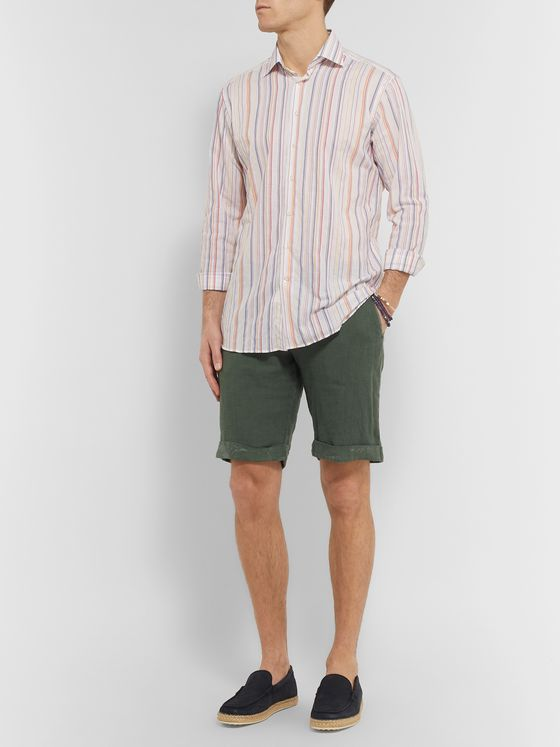 Etro Slim-Fit Striped Cotton-Blend Shirt