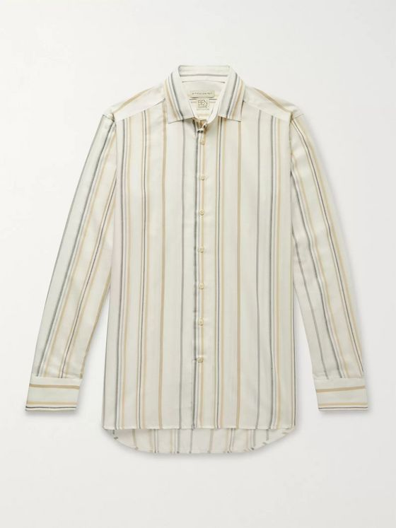 Etro Slim-Fit Striped Woven Shirt