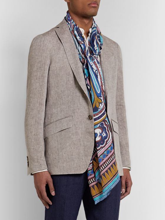 Etro Printed Linen Scarf