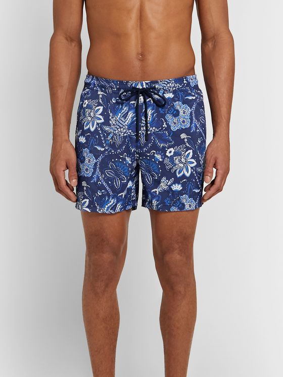Etro Mid-Length Floral-Print Swim Shorts
