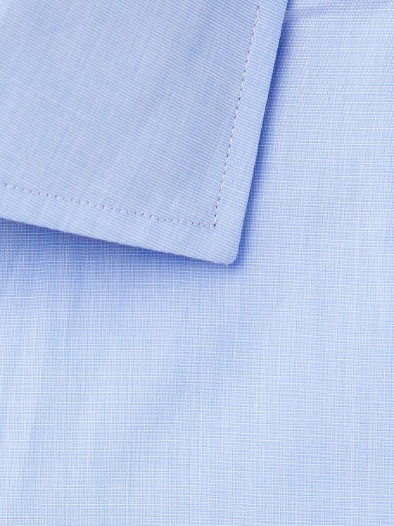 Etro Light-Blue Slim-Fit End-On-End Cotton Shirt