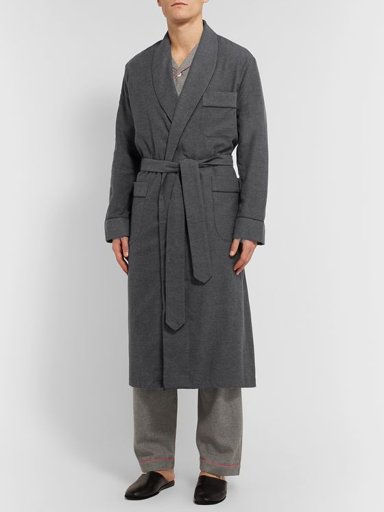 Maximilian Mogg Brushed-Cotton Robe