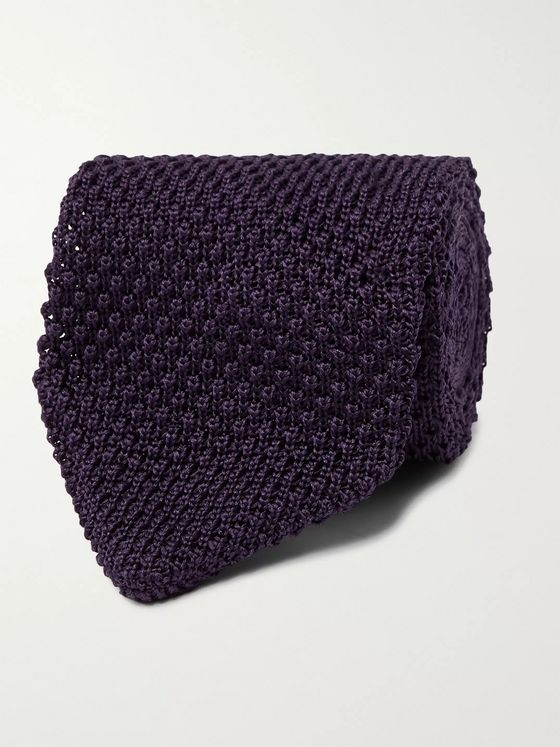 Maximilian Mogg 8cm Knitted Silk Tie