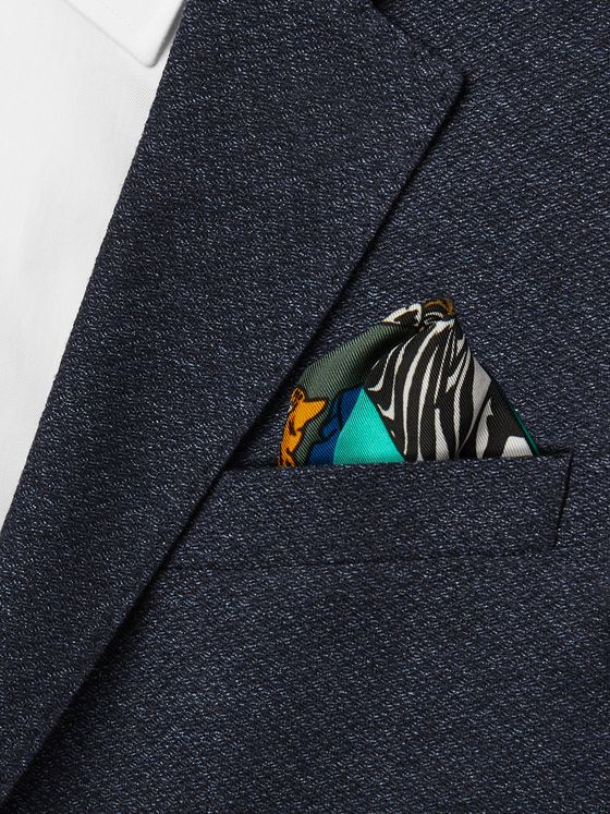 Maximilian Mogg Printed Silk-Twill Pocket Square