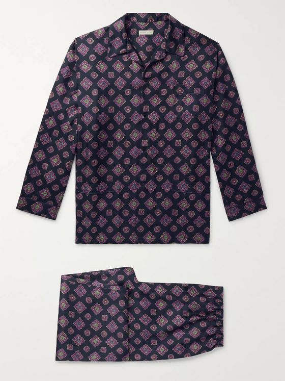 Etro Piped Printed Silk Pyjama Set