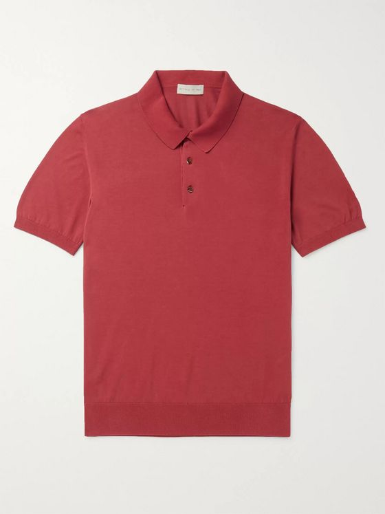 Etro Slim-Fit Cotton Polo Shirt