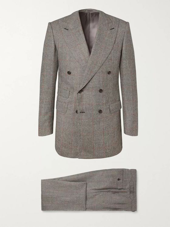 Maximilian Mogg Grey Prince of Wales Checked Wool-Flannel Suit