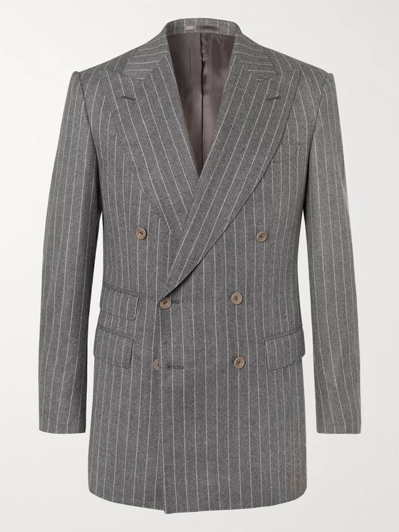Maximilian Mogg Grey Pinstriped Super 120s Wool-Flannel Suit
