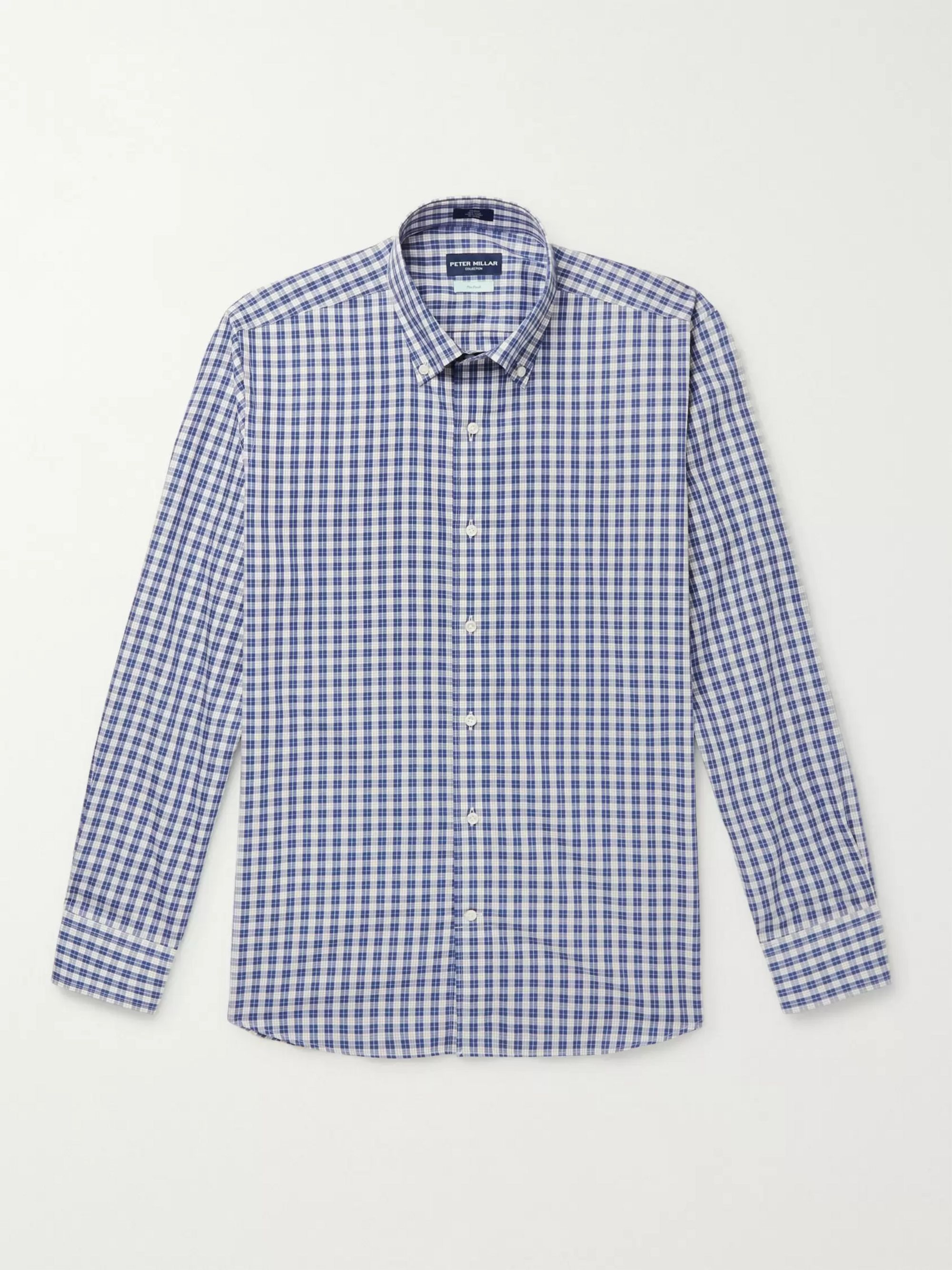Peter Millar Tides Slim-Fit Button-Down Collar Checked Cotton Shirt
