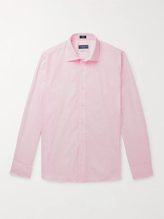 Peter Millar Striped Cotton-Chambray Shirt
