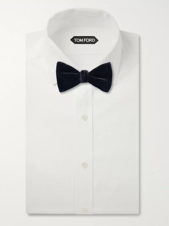 Richard James Self-Tie Cotton-Velvet Bow Tie